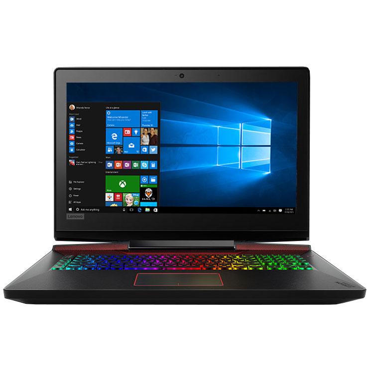 """PC portable Lenovo Legion Y920-17IKB (80YW000VFR) Intel Core i7-7700HQ 16 Go SSD 128 Go + HDD 1 To 17.3"""" LED Full HD NVIDIA GeForce GTX 1070 8 Go Wi-Fi AC/Bluetooth Webcam Windows 10 Famille 64 bits"""