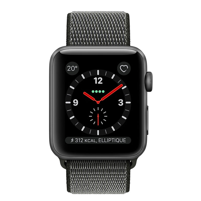 ... Apple Watch Series 3 GPS + Cellular Aluminium Gris Sport Olive 38 mm.  Photo(s) non contractuelle(s) dc866746cfd5