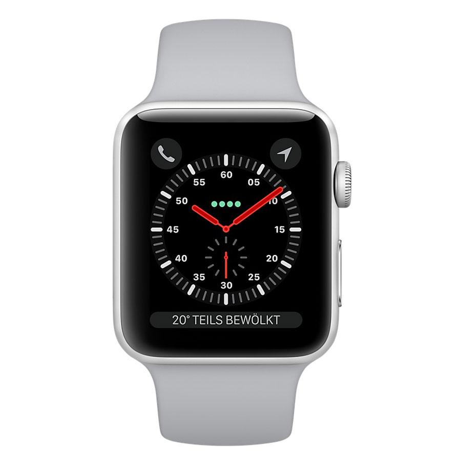 e858c677ac0c6d ... Apple Watch Series 3 GPS + Cellular Aluminium Argent Sport Nuage 42 mm.  Photo(s) non contractuelle(s)