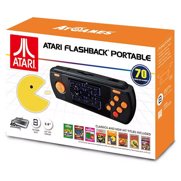 Rétrogaming Atari Flashback Portable Console de jeux portable Atari + 70 jeux