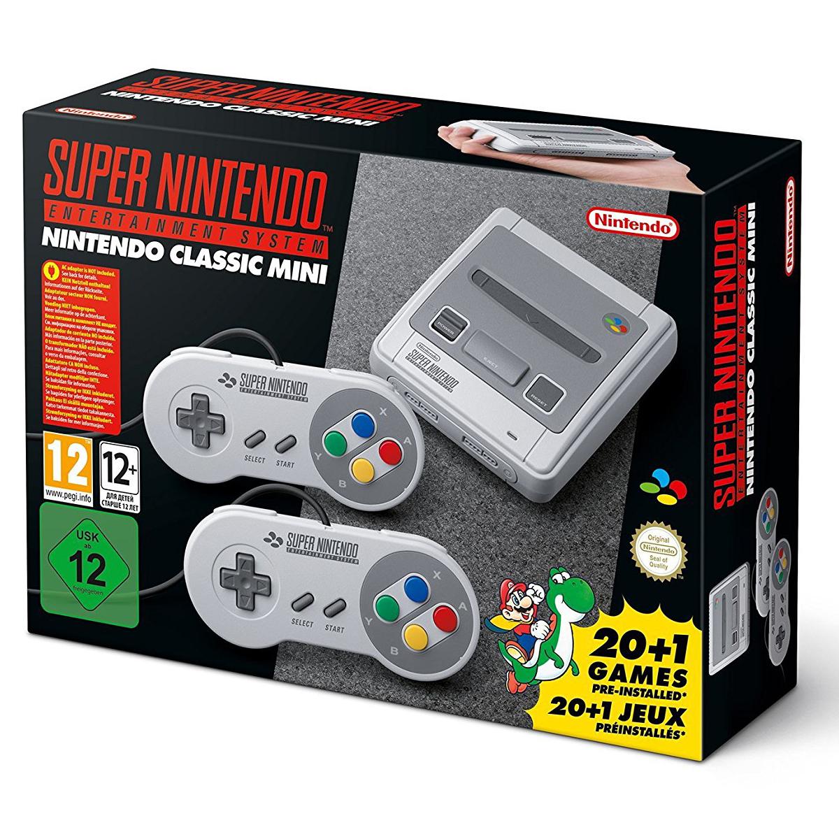 Rétrogaming Nintendo Classic Mini : Super NES Console Mini Super NES avec 21 jeux préinstallés