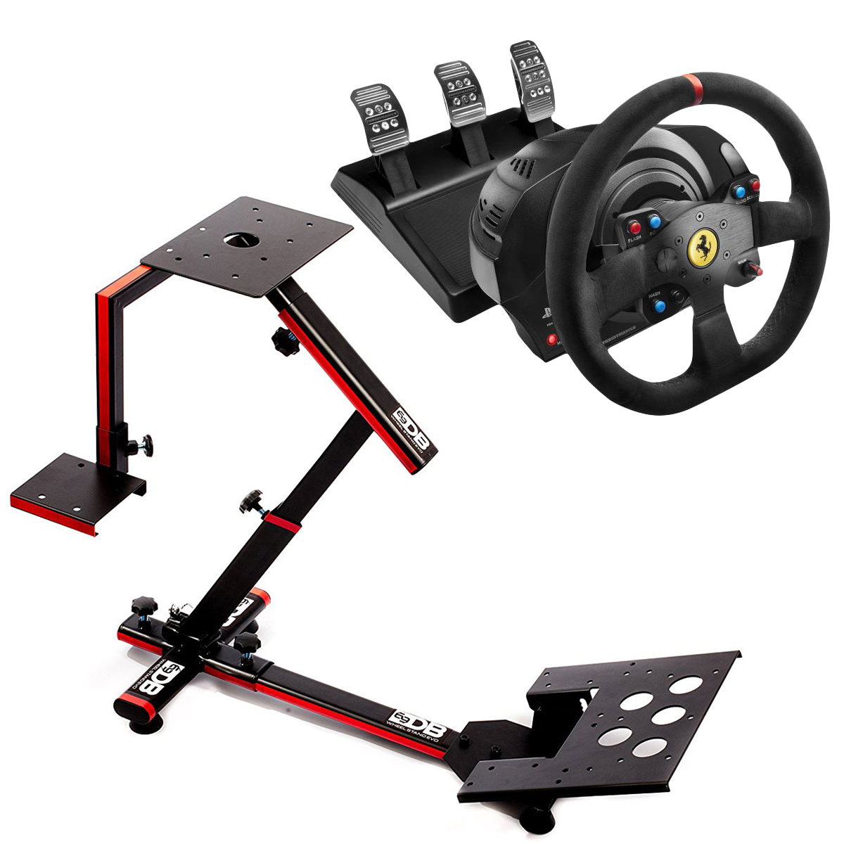 thrustmaster t300 ferrari alcantara edition 69db wheel stand evo volant pc thrustmaster sur. Black Bedroom Furniture Sets. Home Design Ideas