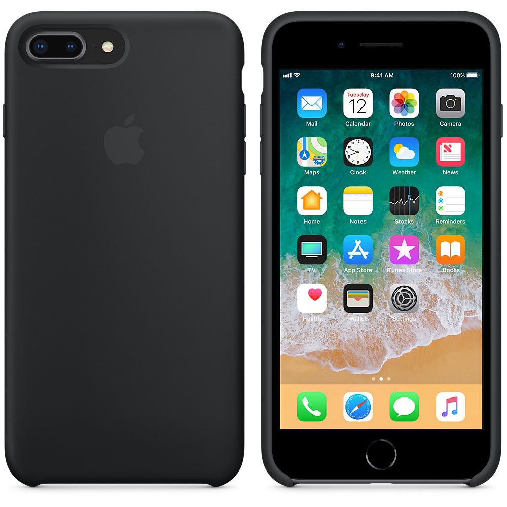 coque silicone iphone 8 plus noir