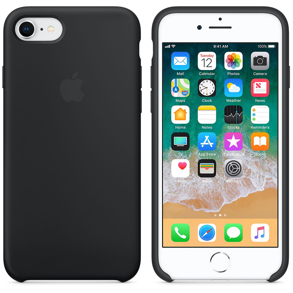 coque iphone 8 silicone noir