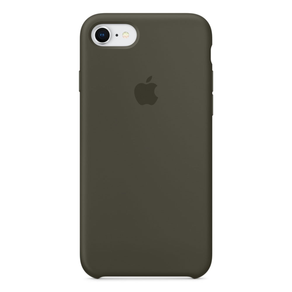 apple coque en silicone olive sombre apple iphone 8 7. Black Bedroom Furniture Sets. Home Design Ideas