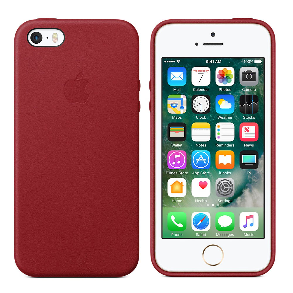 apple coque en cuir product red apple iphone se etui t l phone apple sur. Black Bedroom Furniture Sets. Home Design Ideas