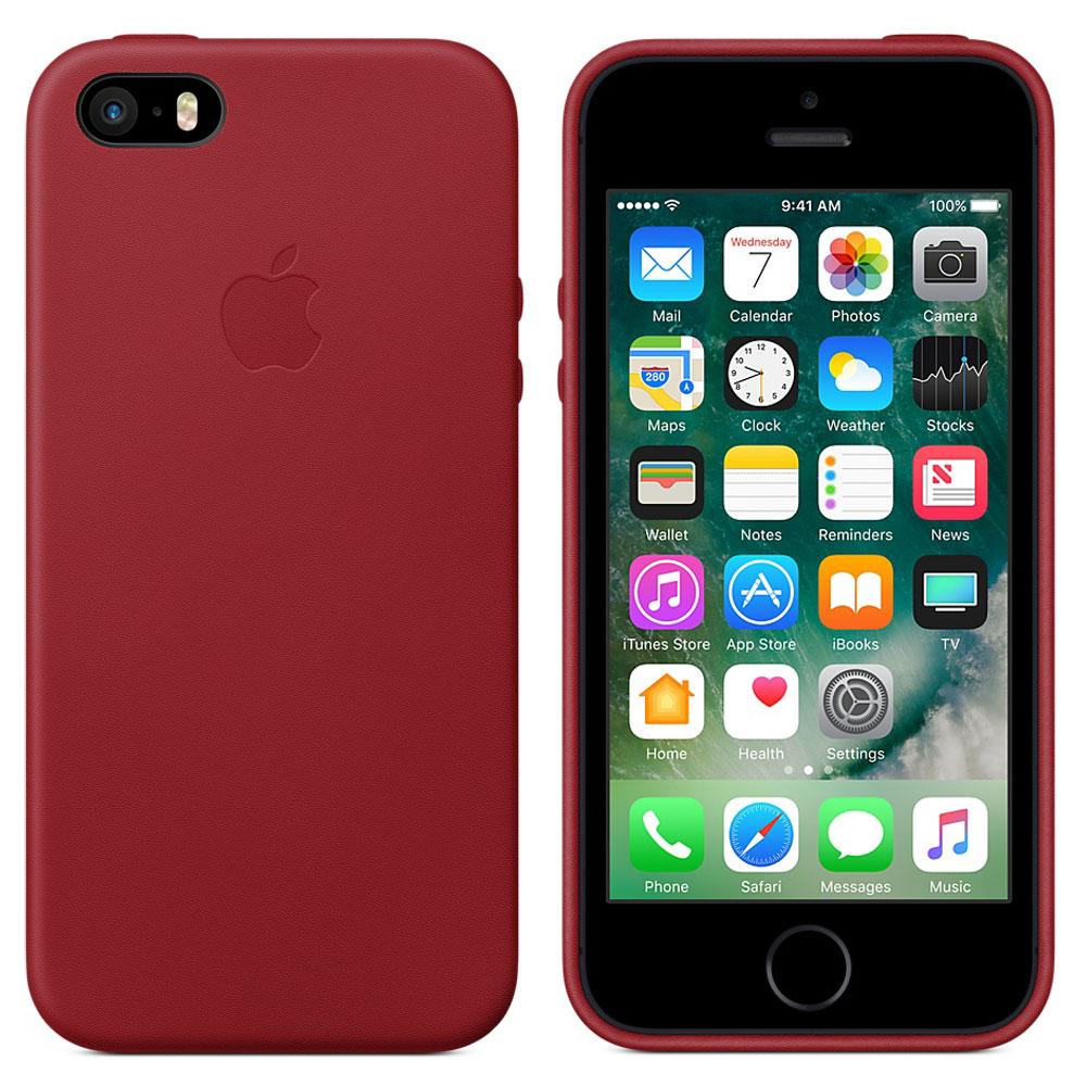 apple coque en cuir product red apple iphone se etui t l phone apple sur. Black Bedroom Furniture Sets. Home Design Ideas
