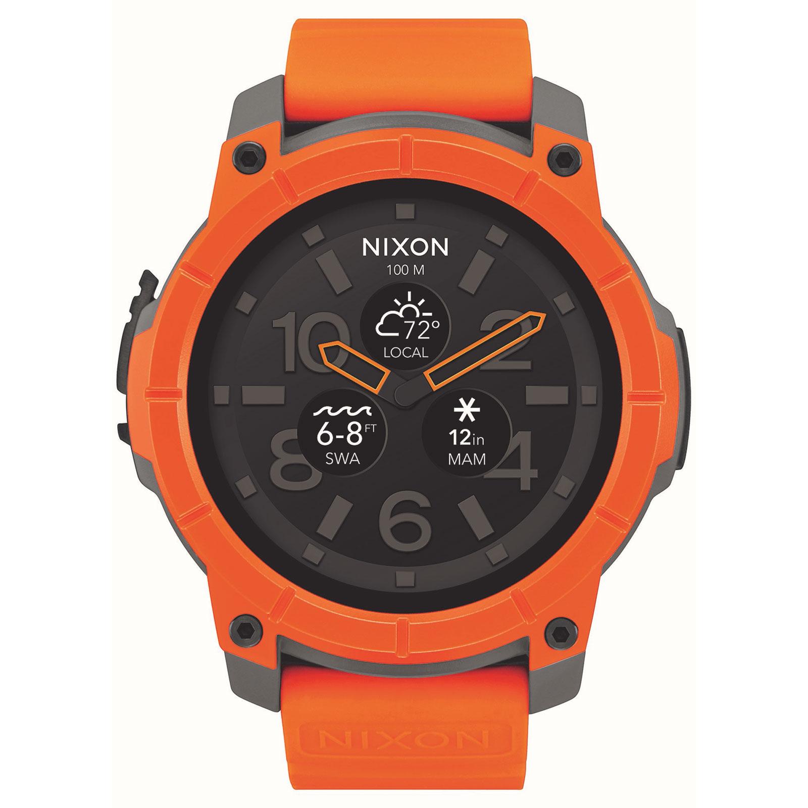 nixon mission orange montre connect e nixon sur. Black Bedroom Furniture Sets. Home Design Ideas