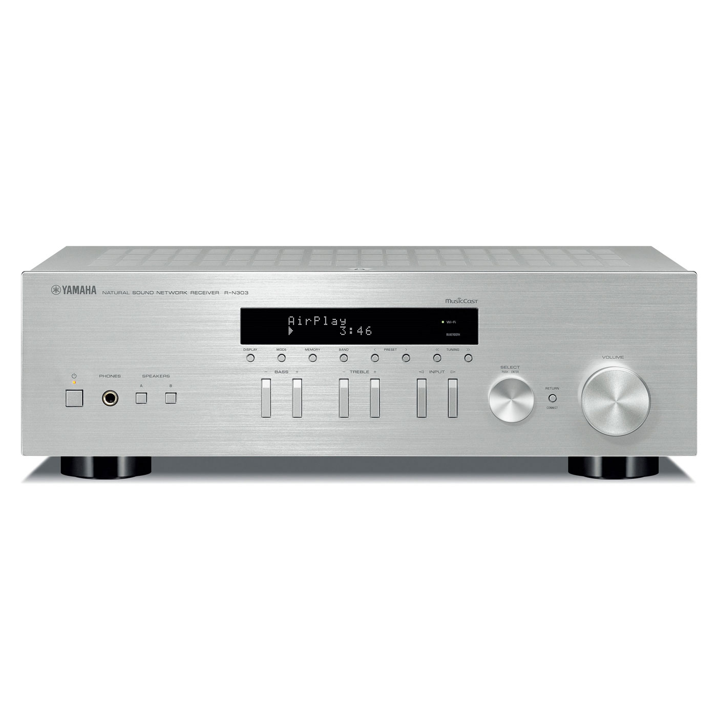 yamaha musiccast r n303 argent amplificateur hifi yamaha sur. Black Bedroom Furniture Sets. Home Design Ideas