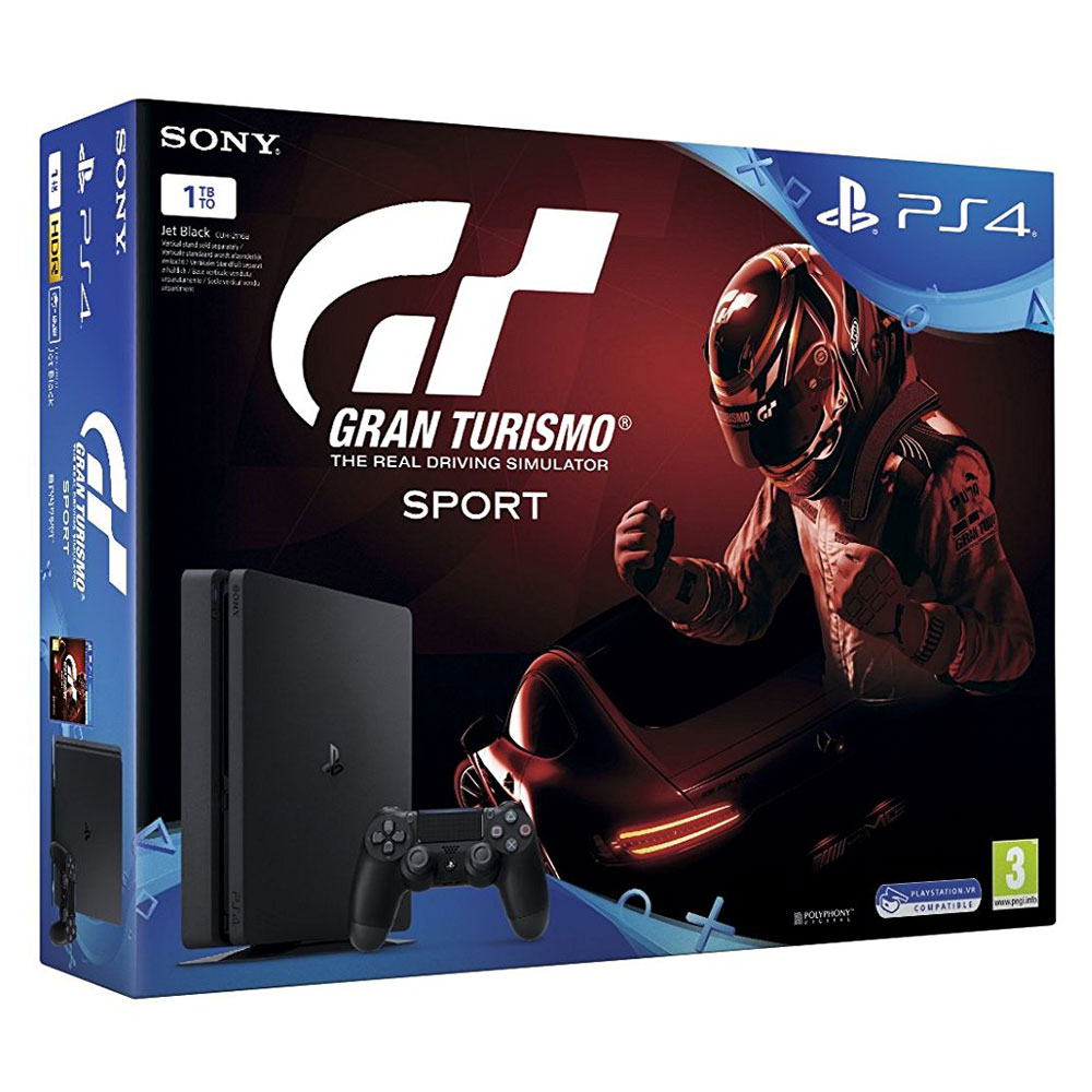 sony playstation 4 slim 1 to gran turismo sport console ps4 sony interactive entertainment. Black Bedroom Furniture Sets. Home Design Ideas