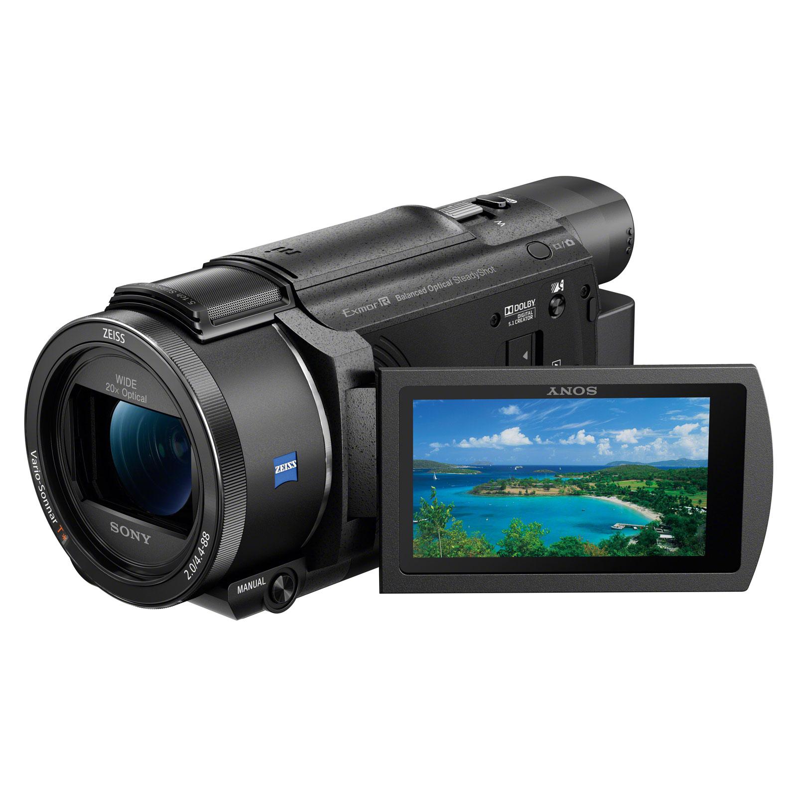 Caméscope numérique Sony FDR-AX53B Caméscope 4K, zoom 20x, stabilisateur optique, Wi-Fi et NFC