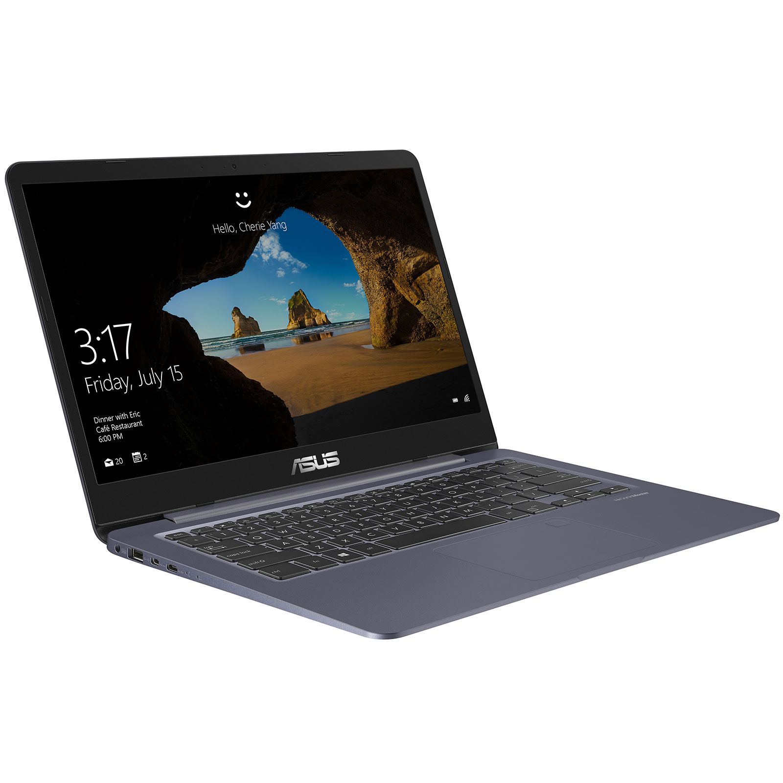 "PC portable ASUS Vivobook S14 S406UA-BM013T Intel Core i5-8250U 8 Go SSD 256 Go 14"" LED Full HD Wi-Fi AC/Bluetooth Webcam Windows 10 Famille 64 bits (garantie constructeur 2 ans)"