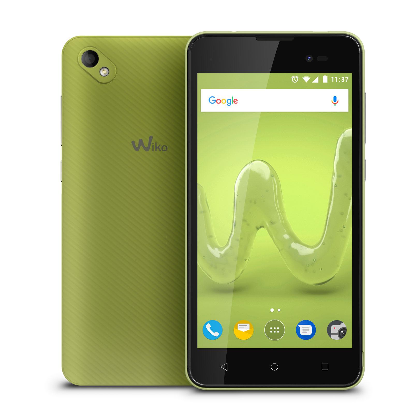 "Mobile & smartphone Wiko Sunny 2 Plus Lime Smartphone 3G+ Dual SIM - Mediatek MT6580 Quad-Core 1.2 GHz - RAM 1 Go - Ecran tactile 5"" 480 x 854 - 8 Go - Bluetooth 4.0 - 2000 mAh - Android 7.0"