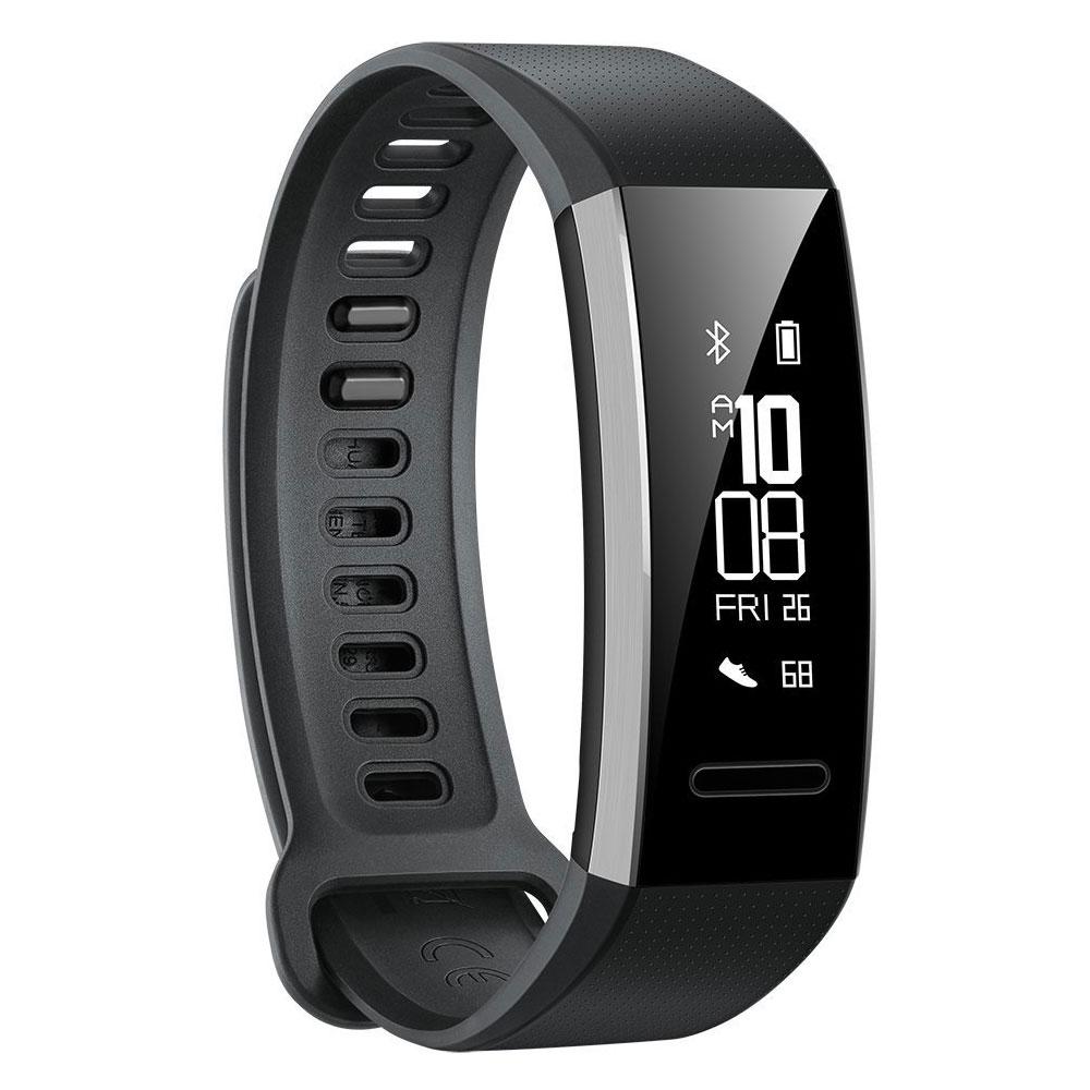 Bracelet connecté Huawei Band 2 Pro Noir Coach sportif étanche Bluetooth avec cardio-fréquencemètre, suivi du sommeil, compatible iOS et Android
