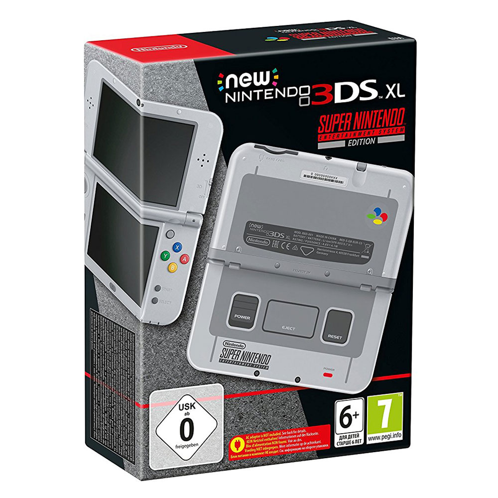 nintendo new 3ds xl super nes edition console nintendo. Black Bedroom Furniture Sets. Home Design Ideas