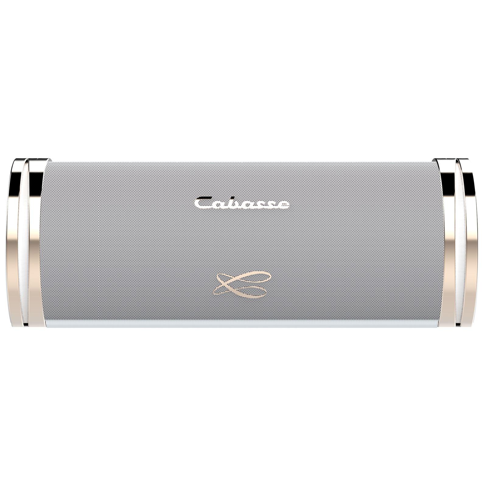 Dock & Enceinte Bluetooth Cabasse Swell Blanc Enceinte portable sans fil haute-fidélité Bluetooth et NFC