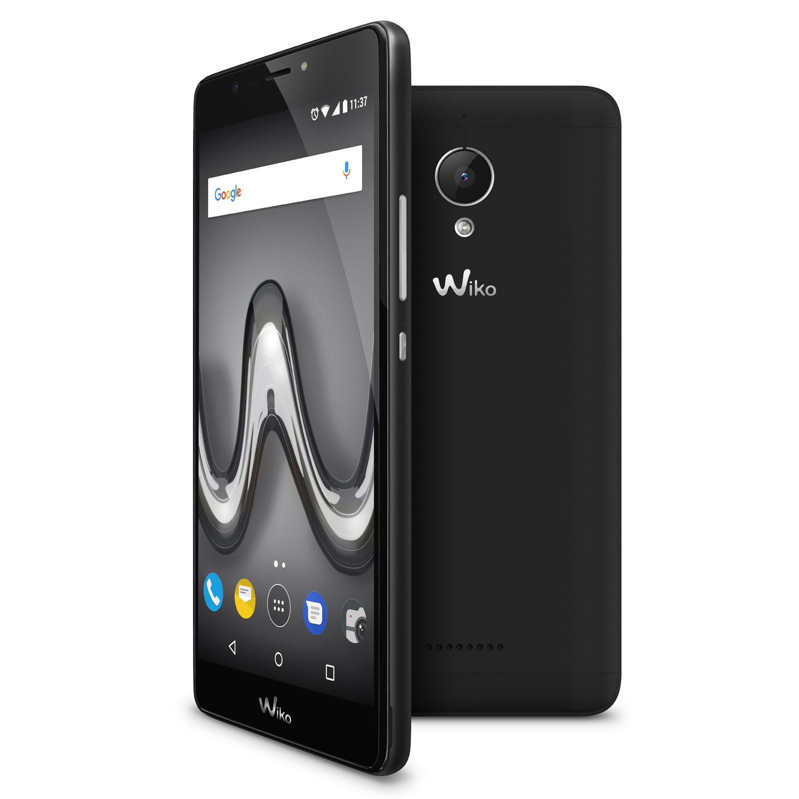 wiko tommy 2 plus noir mobile smartphone wiko sur. Black Bedroom Furniture Sets. Home Design Ideas