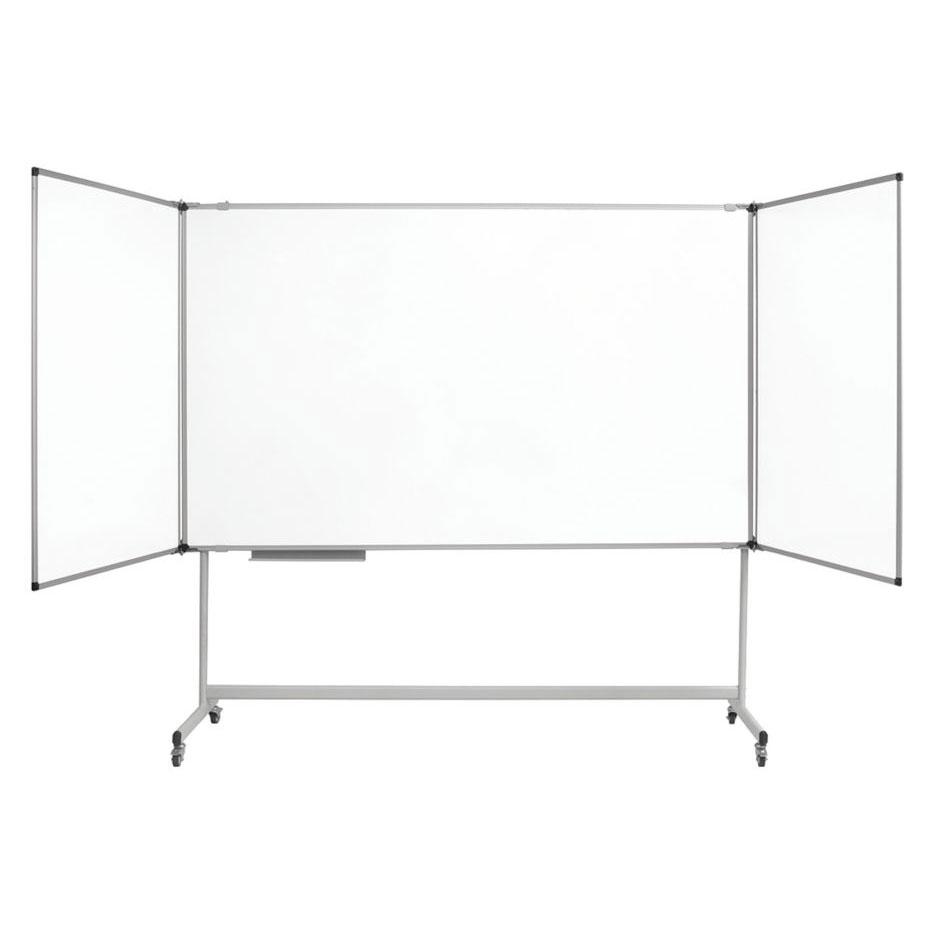bi office blanc triptyque mobile industriel maya 100 x 150 300 cm tableau blanc et paperboard. Black Bedroom Furniture Sets. Home Design Ideas