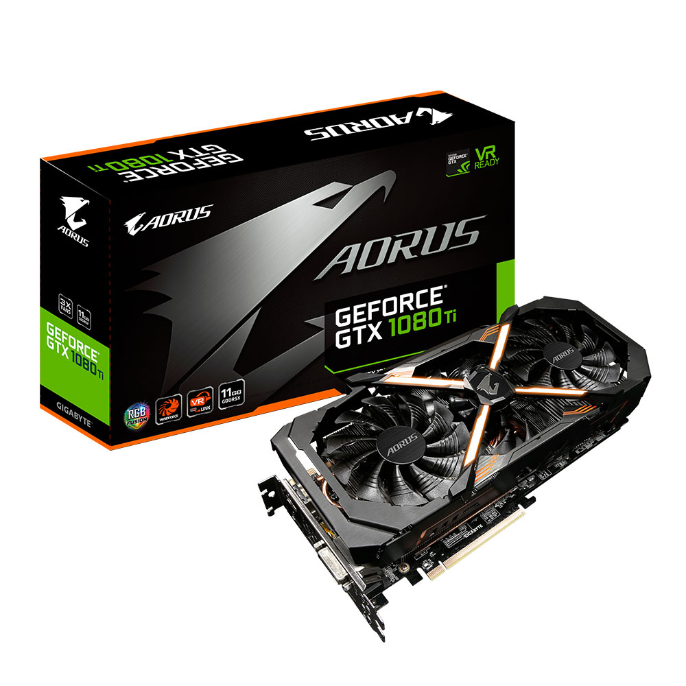 gigabyte aorus geforce gtx 1080 ti carte graphique gigabyte sur. Black Bedroom Furniture Sets. Home Design Ideas
