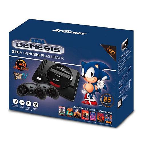 Rétrogaming ATGames SEGA Genesis Flashback Console de salon SEGA Megadrive + 2 manettes sans fils + 85 jeux
