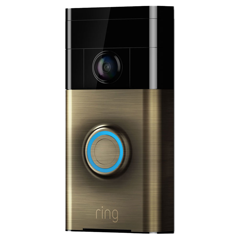 ring video doorbell bronze antique cam ra de surveillance ring sur. Black Bedroom Furniture Sets. Home Design Ideas