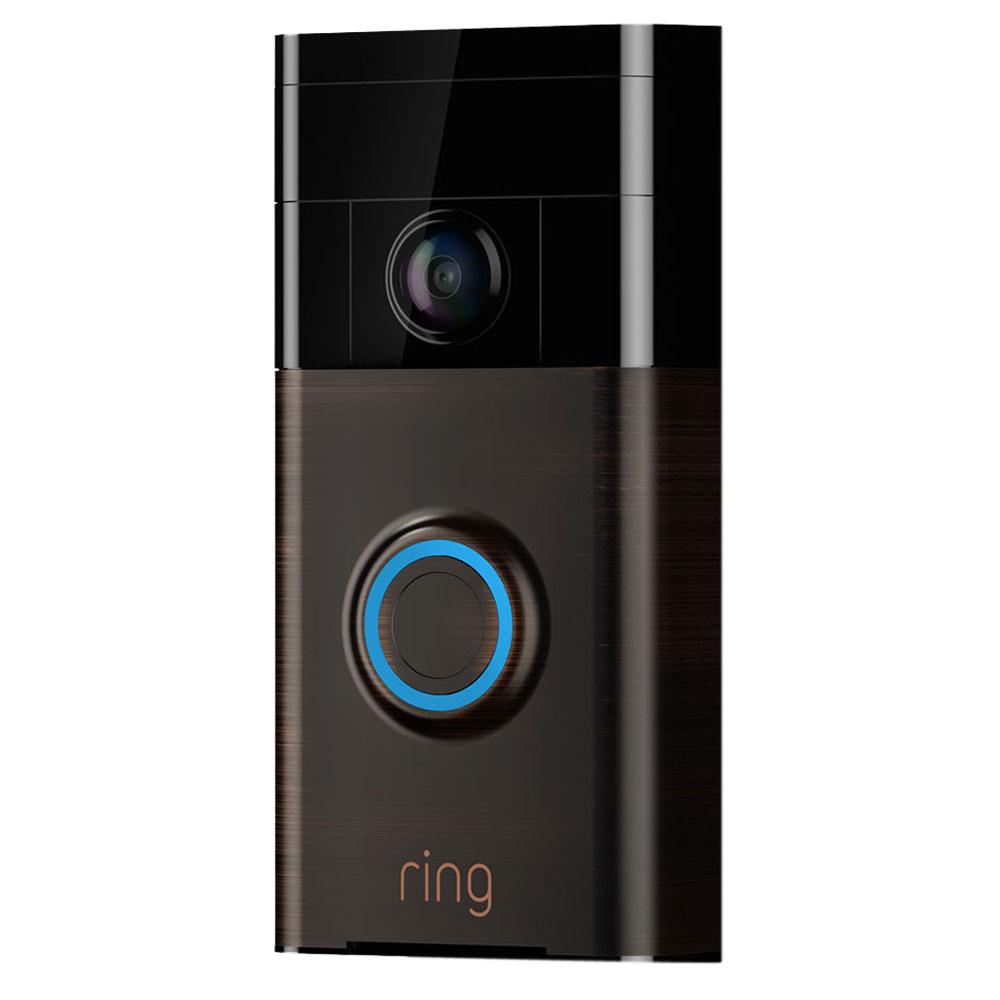 ring video doorbell b ne satin cam ra de surveillance ring sur. Black Bedroom Furniture Sets. Home Design Ideas