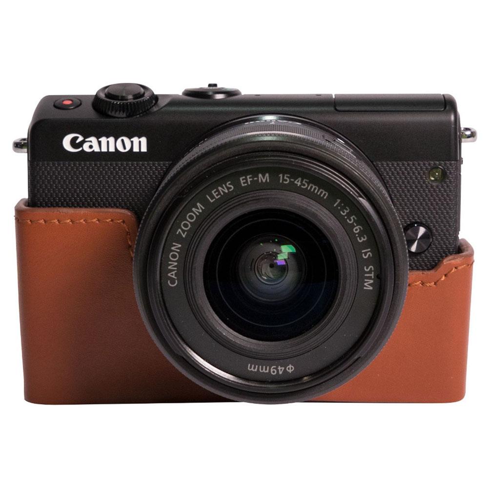 canon eos m100 noir ef m 15 45 mm is stm tui marron appareil photo hybride canon sur. Black Bedroom Furniture Sets. Home Design Ideas