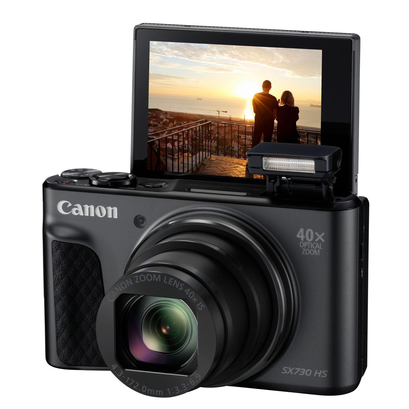 canon powershot sx730 hs noir travel kit appareil photo num rique canon sur. Black Bedroom Furniture Sets. Home Design Ideas