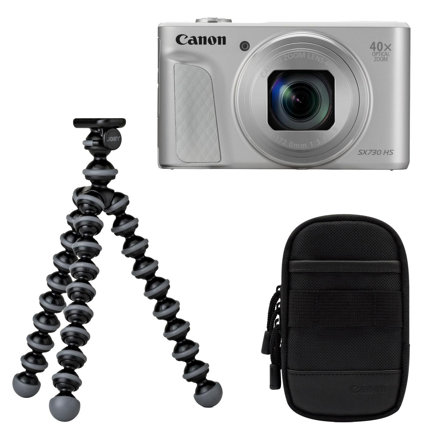 canon powershot sx730 hs argent travel kit appareil photo num rique canon sur. Black Bedroom Furniture Sets. Home Design Ideas