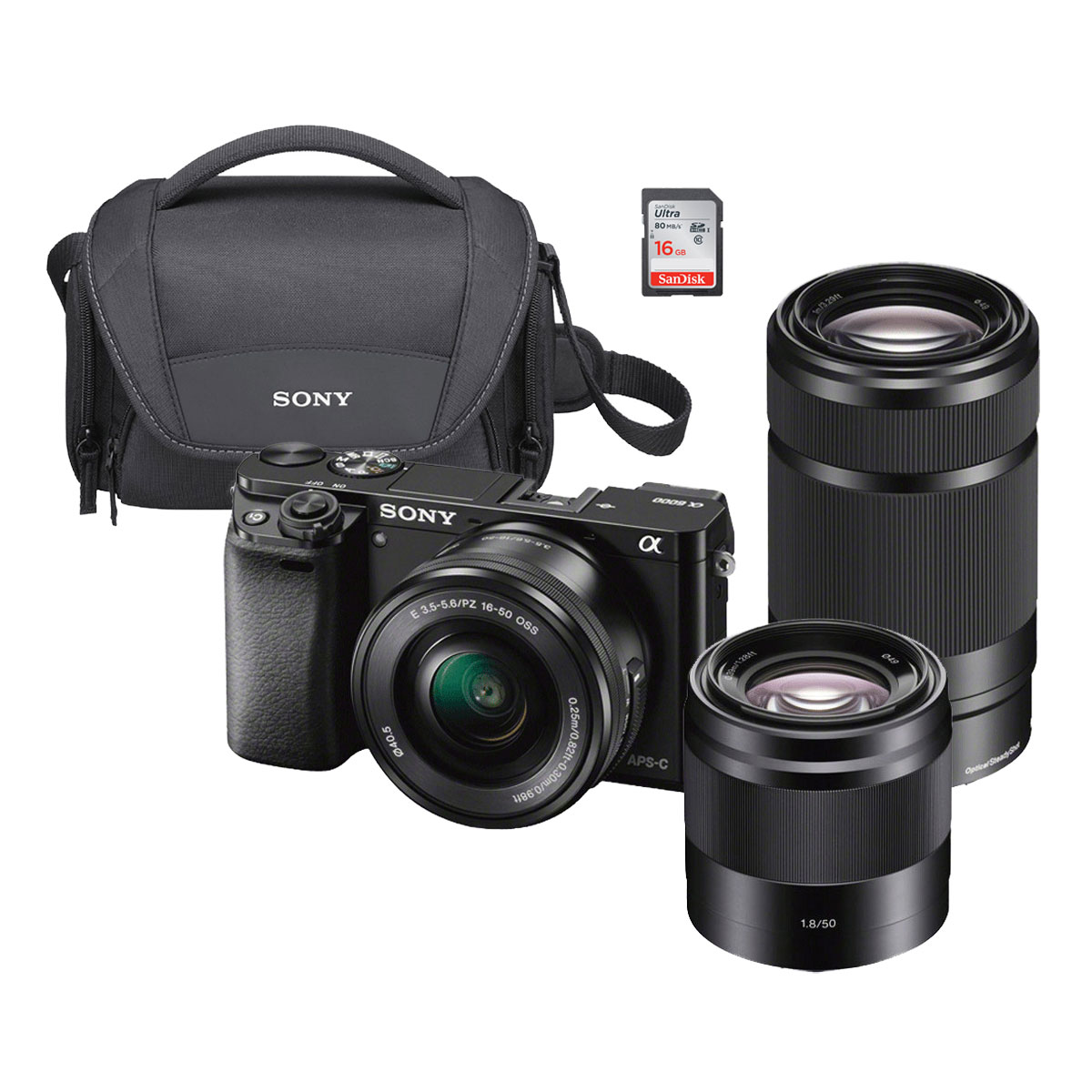 Sony alpha 6000 ypack appareil photo hybride sony sur for Housse appareil photo hybride