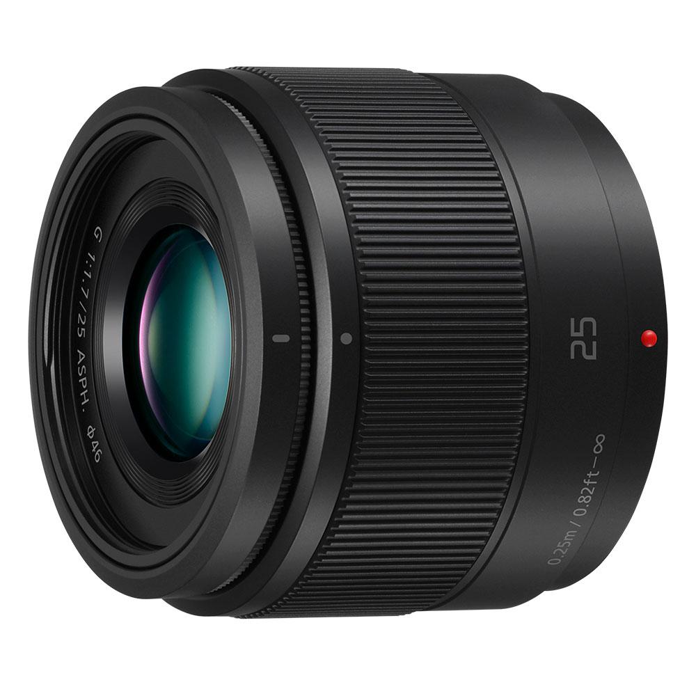 Objectif appareil photo Panasonic Lumix H-H025E Noir Objectif focale unique Micro 4/3 25 mm F/1.7