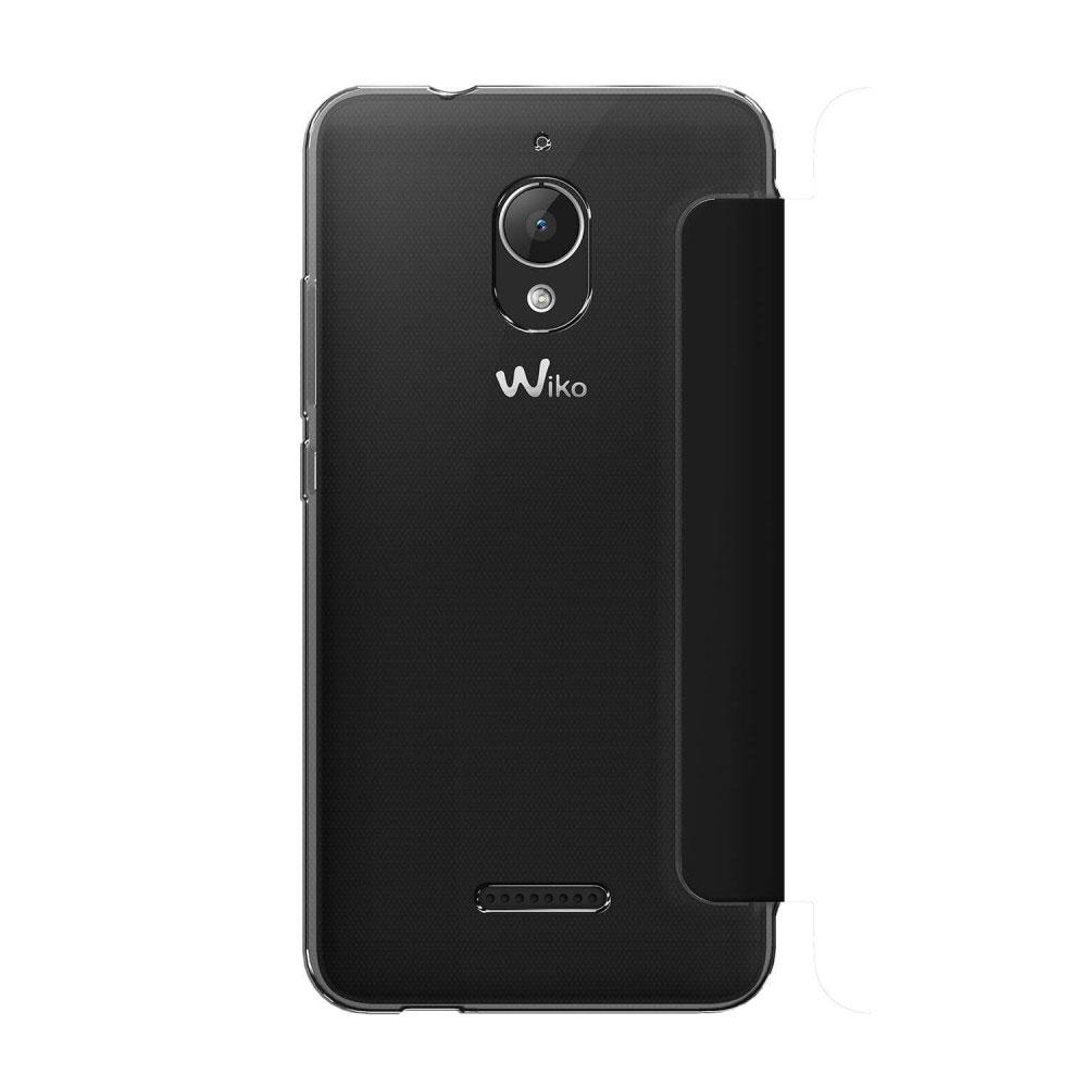 wiko etui smart folio wicube noir tommy 2 plus etui t l phone wiko sur. Black Bedroom Furniture Sets. Home Design Ideas
