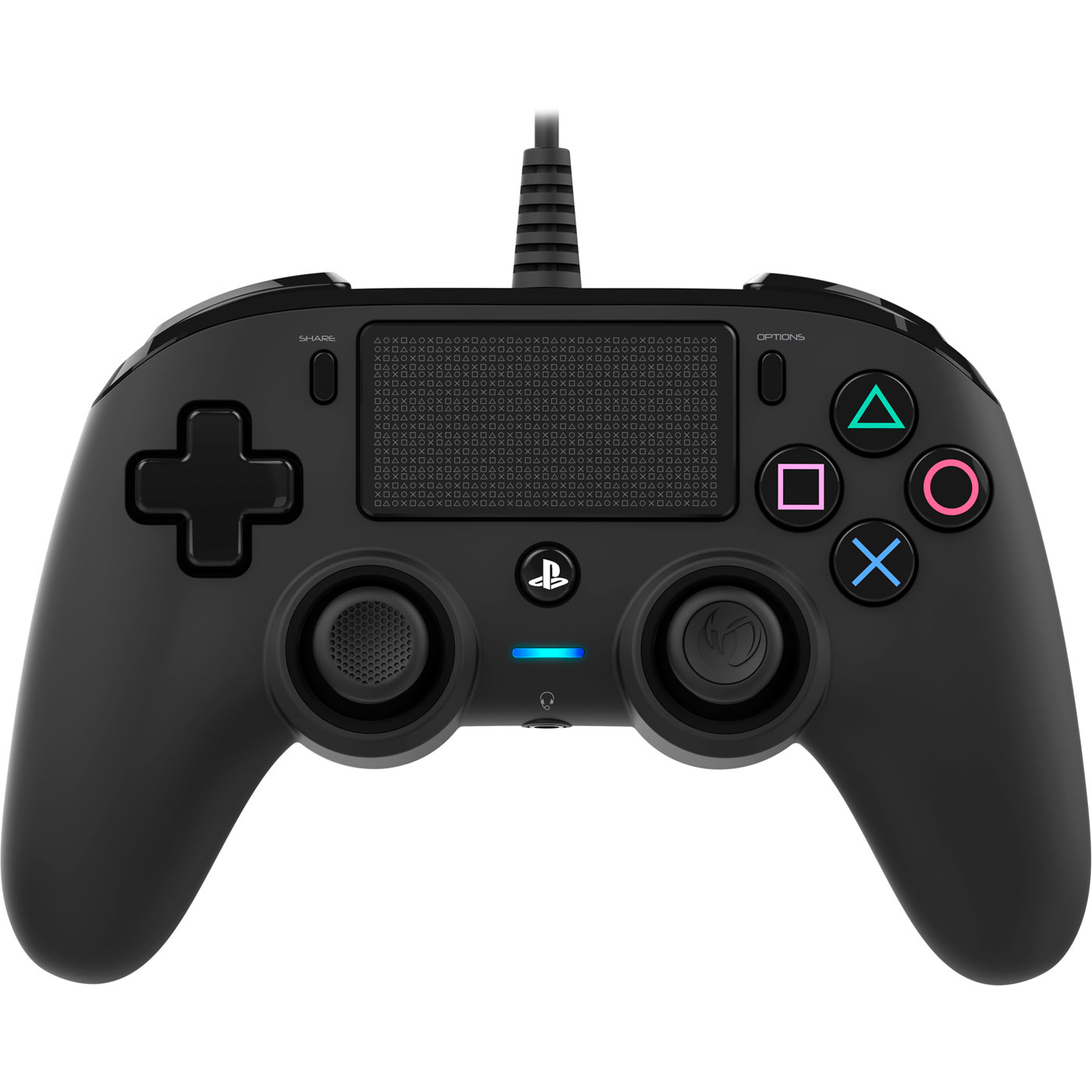 Accessoires PS4 Nacon Gaming Compact Controller Noir Manette gaming filaire  pour PlayStation 4