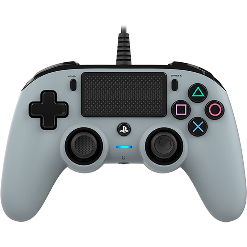 Accessoires PS4 Nacon Gaming Compact Controller Gris Manette gaming filaire  pour PlayStation 4