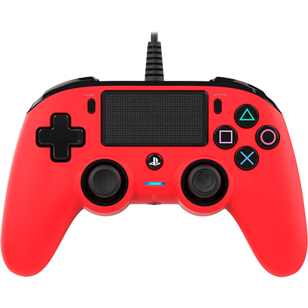 Accessoires PS4 Nacon Gaming Compact Controller Rouge Manette gaming  filaire pour PlayStation 4