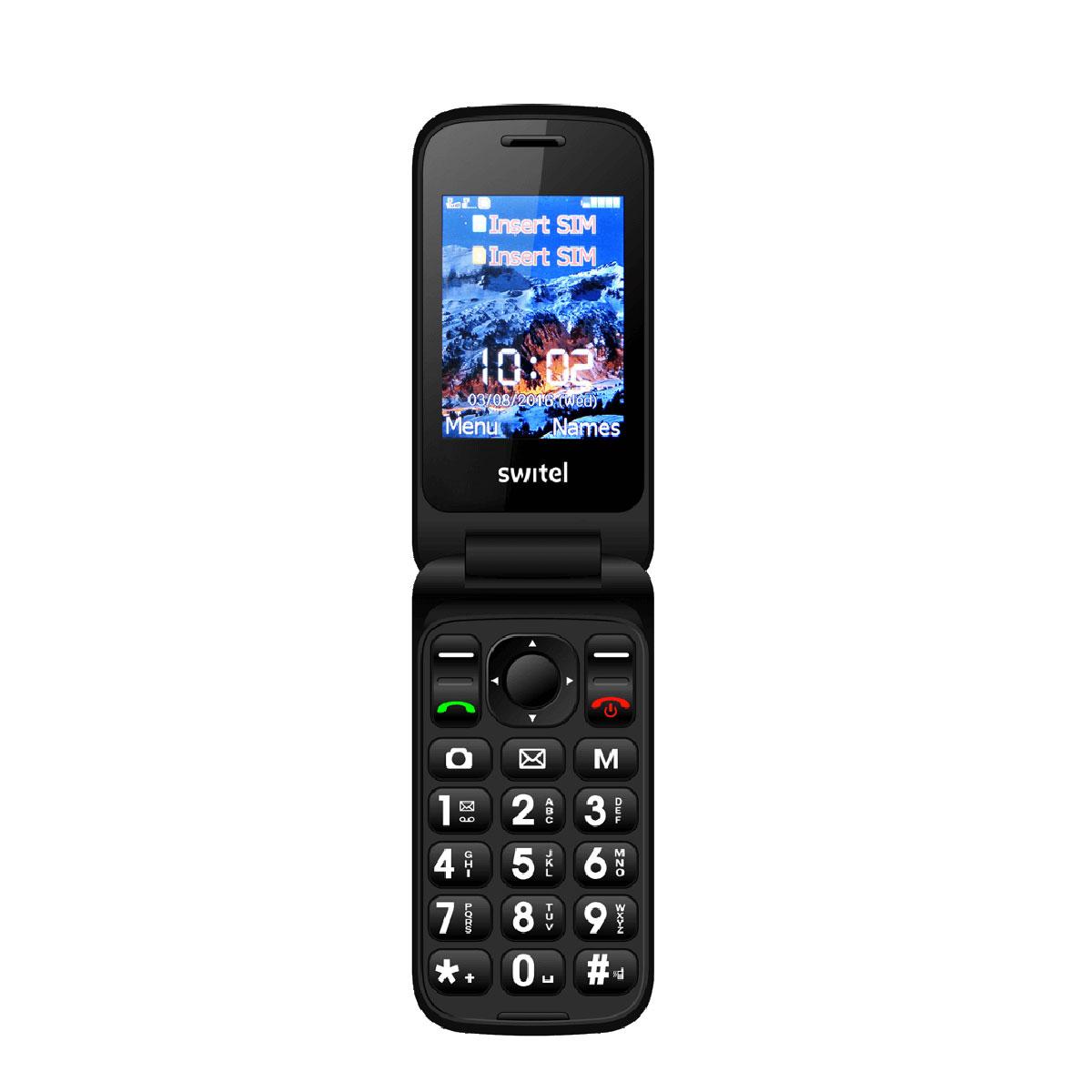 """Mobile & smartphone Switel M275D Téléphone 2G Dual SIM - Ecran 2.4"""" - 800 mAh - Touche SOS"""