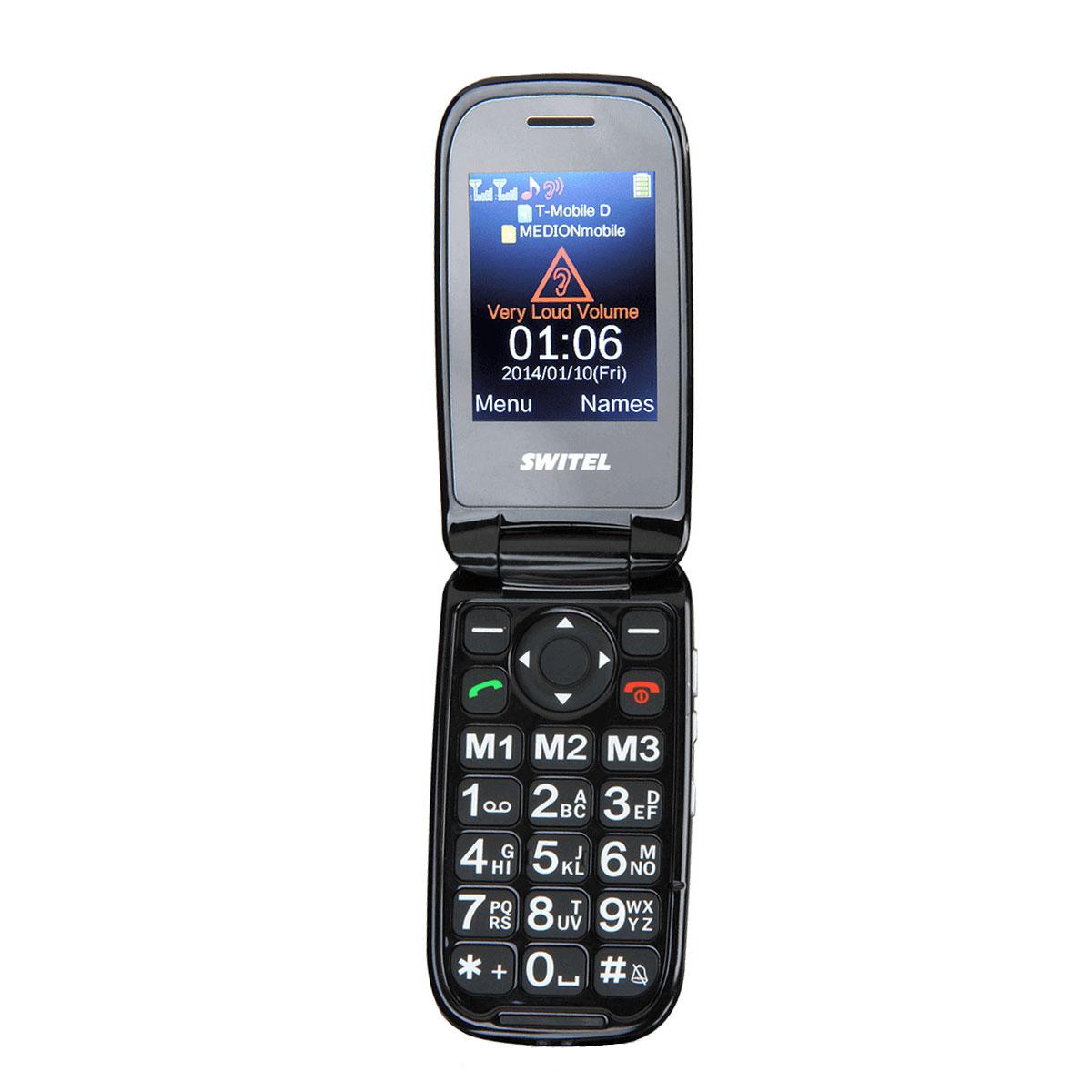 """Mobile & smartphone Switel M270D Téléphone 2G Dual SIM - Ecran 2.4"""" - 900 mAh - Touche SOS"""