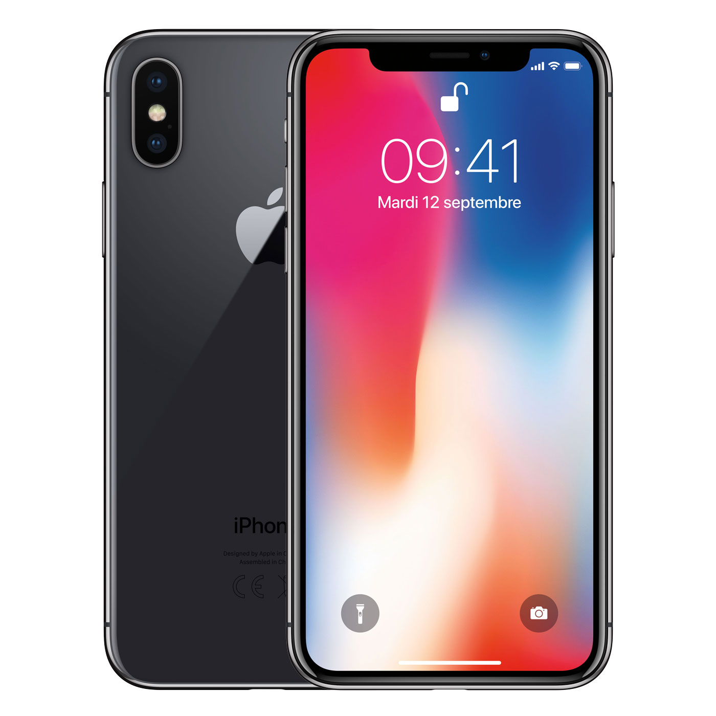 apple iphone x 64 go gris sid ral mobile smartphone apple sur. Black Bedroom Furniture Sets. Home Design Ideas