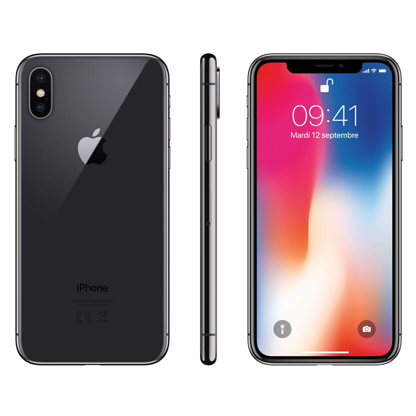 apple iphone x 64 go gris sid ral mobile smartphone apple sur. Black Bedroom Furniture Sets. Home Design Ideas