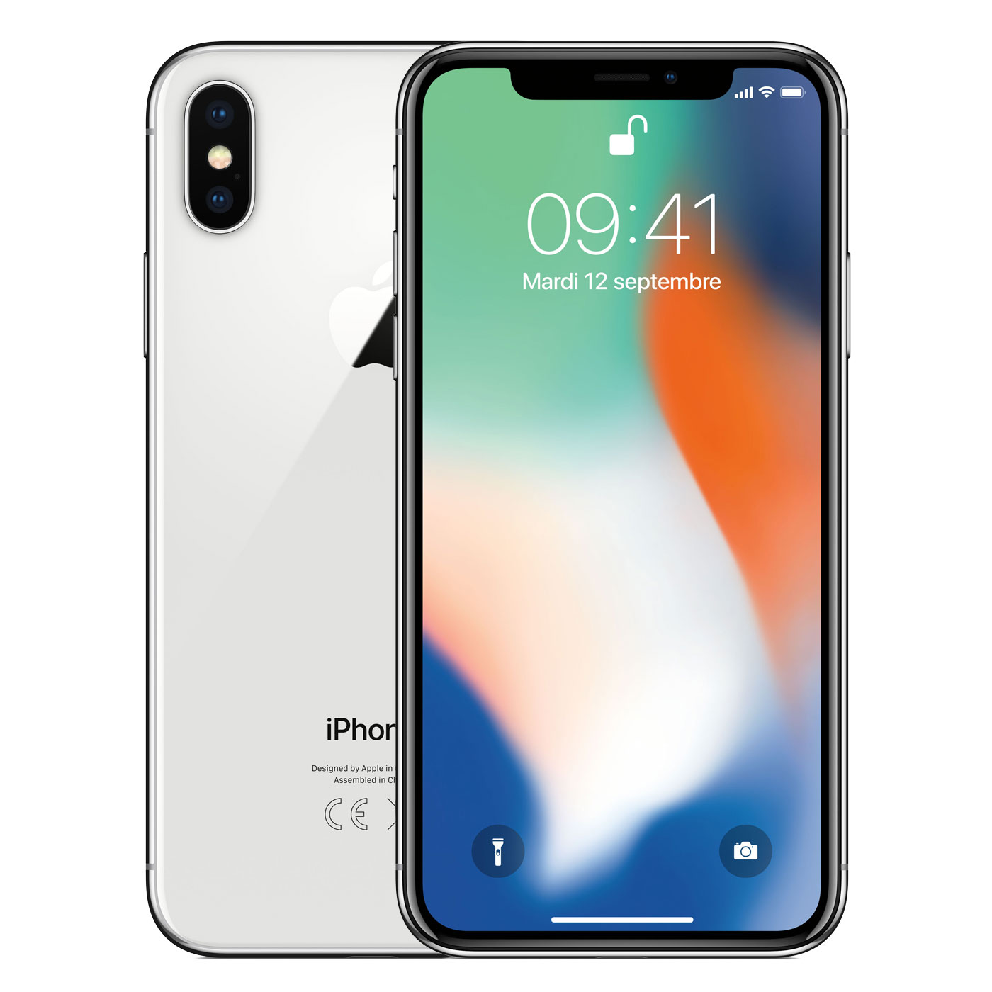 "Mobile & smartphone Apple iPhone X 64 Go Argent Smartphone 4G-LTE Advanced IP67 - Apple A11 Bionic Hexa-Core - RAM 3 Go - Ecran Super Retina 5.8"" 1125 x 2436 - 64 Go - NFC/Bluetooth 5.0 - iOS 11"