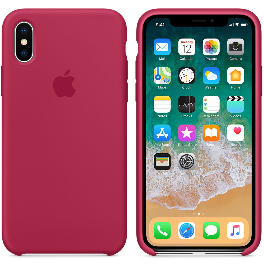 coque silicone rose iphone x