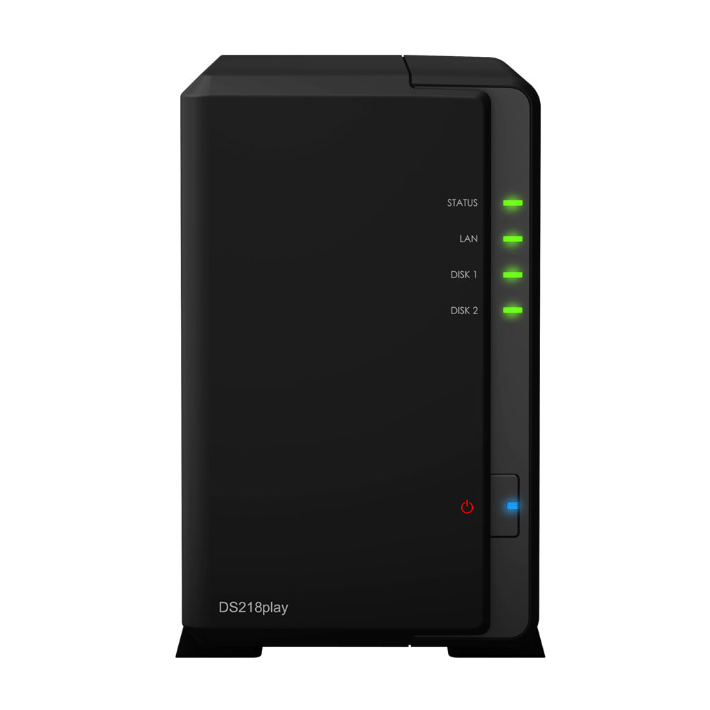 Serveur NAS Synology DiskStation DS218play Barebone Serveur NAS 2 baies avec transcodeur 4K