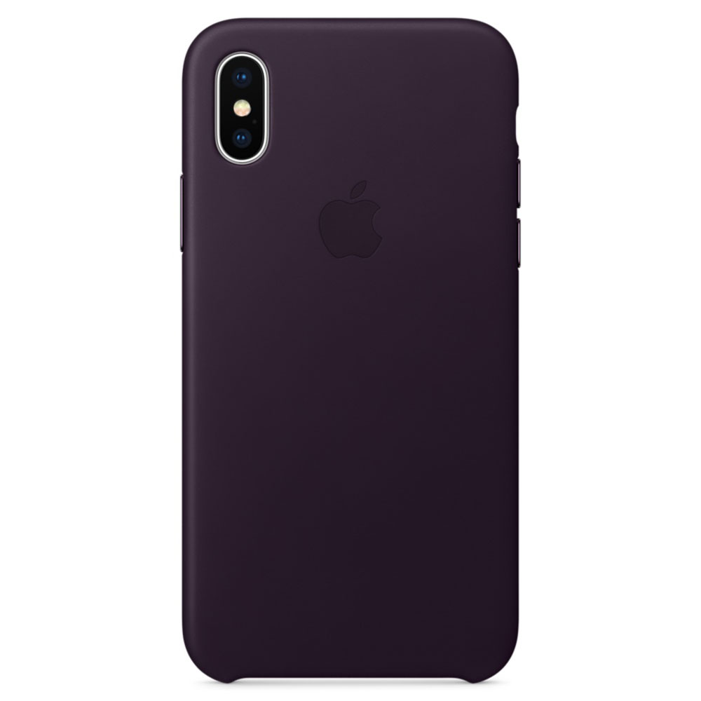 apple coque en cuir aubergine apple iphone x etui. Black Bedroom Furniture Sets. Home Design Ideas