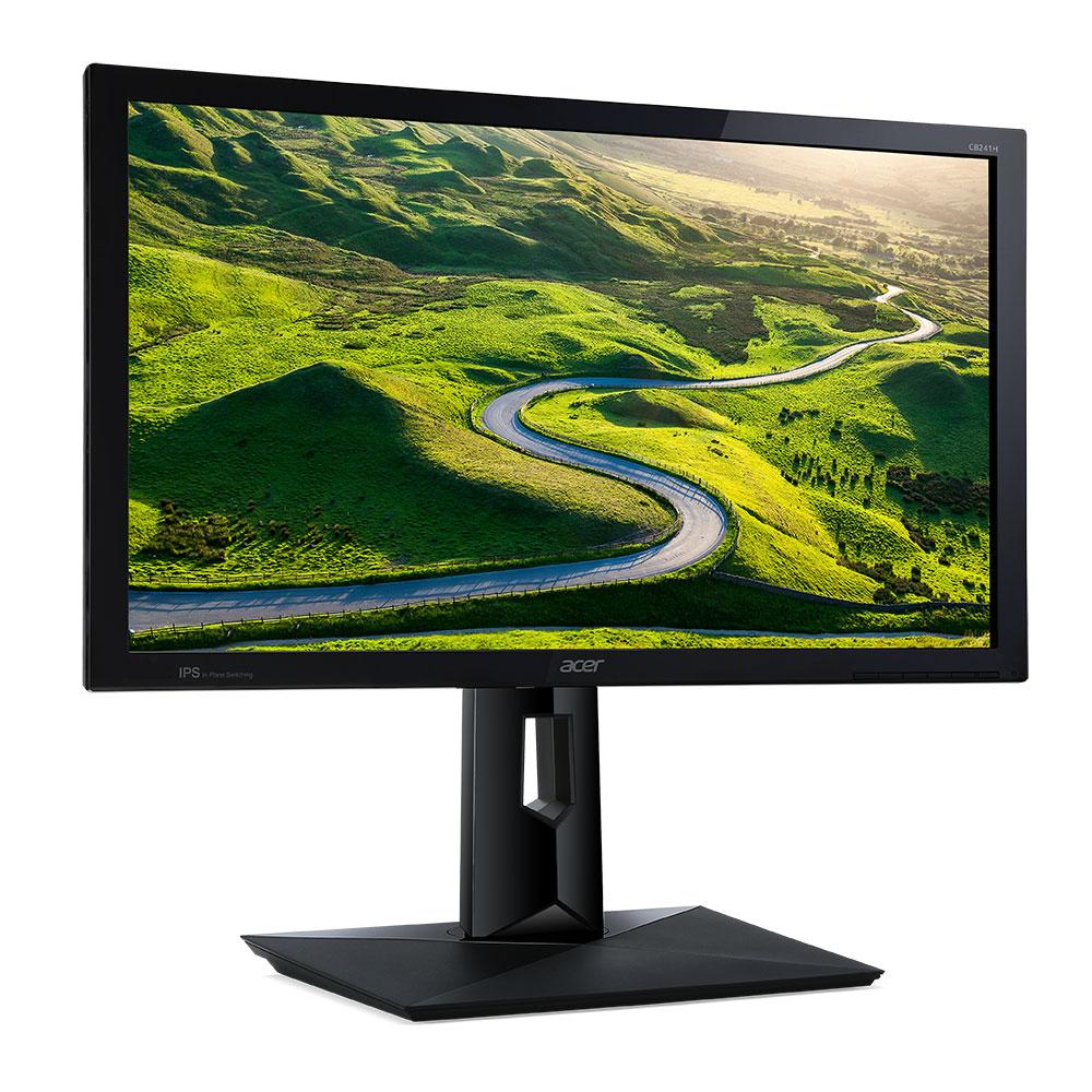 """Ecran PC Acer 24"""" LED - CB241HBMIDR 1920 x 1080 pixels - 1 ms - Format 16/9 - Pivot - HDMI - Noir (Garantie constructeur 3 ans)"""