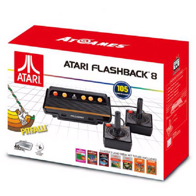 Rétrogaming Atari Flashback 8 Classic Console de salon Atari + 2 manettes + 105 jeux