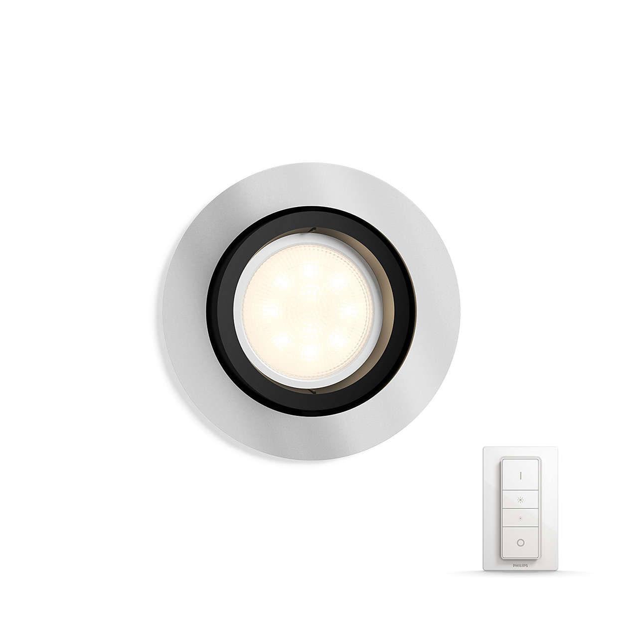 Philips white ambiance milliskin spot encastrer avec - Ampoule connectee philips ...