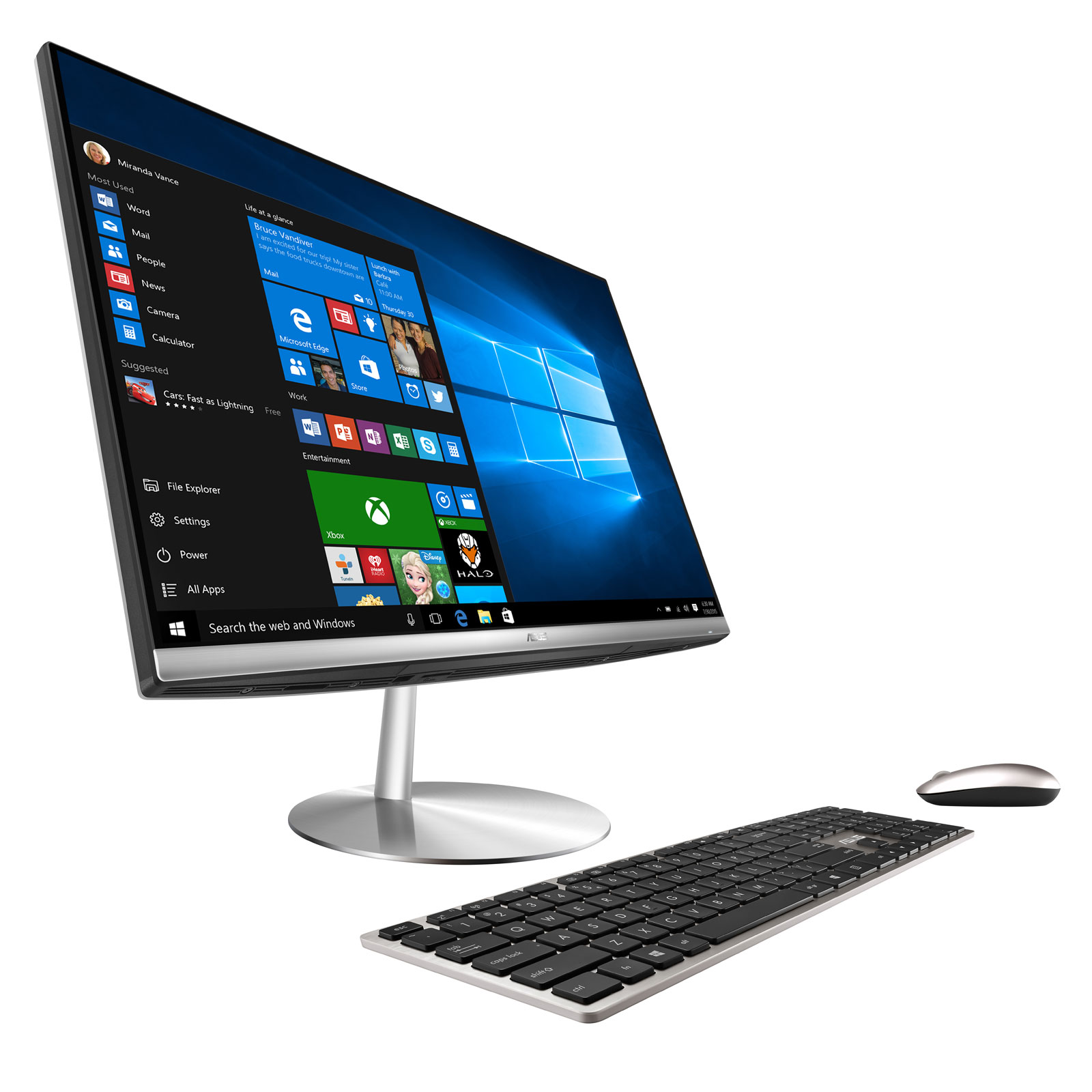 Asus zen aio zn242ifgk ca002r pc de bureau asus sur - Ordinateur de bureau windows 7 pro ...