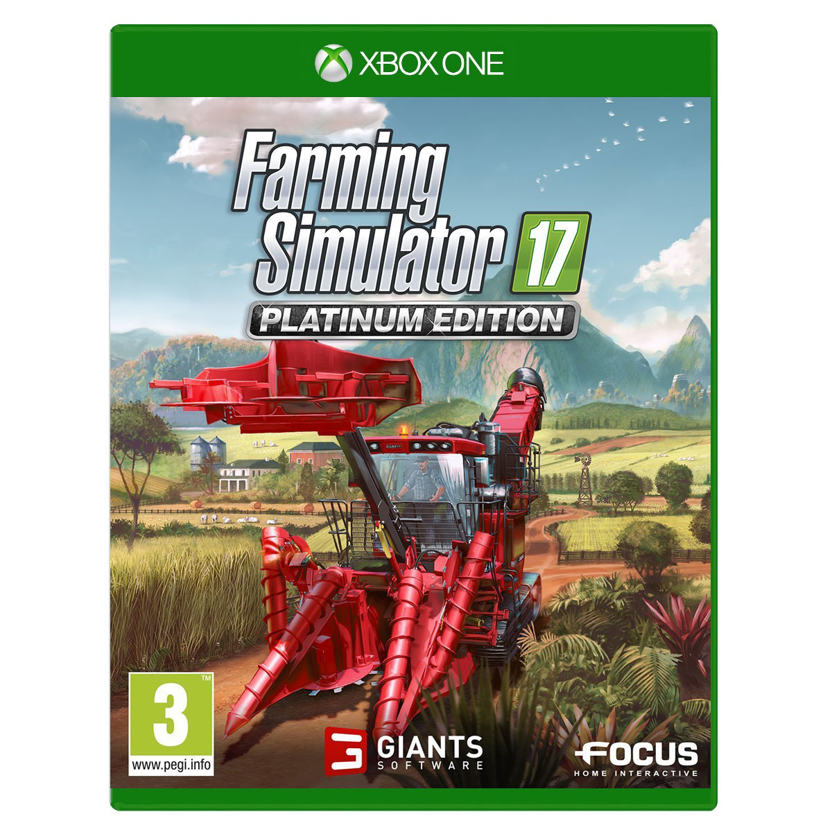 farming simulator 2017 edition platinum xbox one jeux xbox one focus home interactive sur. Black Bedroom Furniture Sets. Home Design Ideas