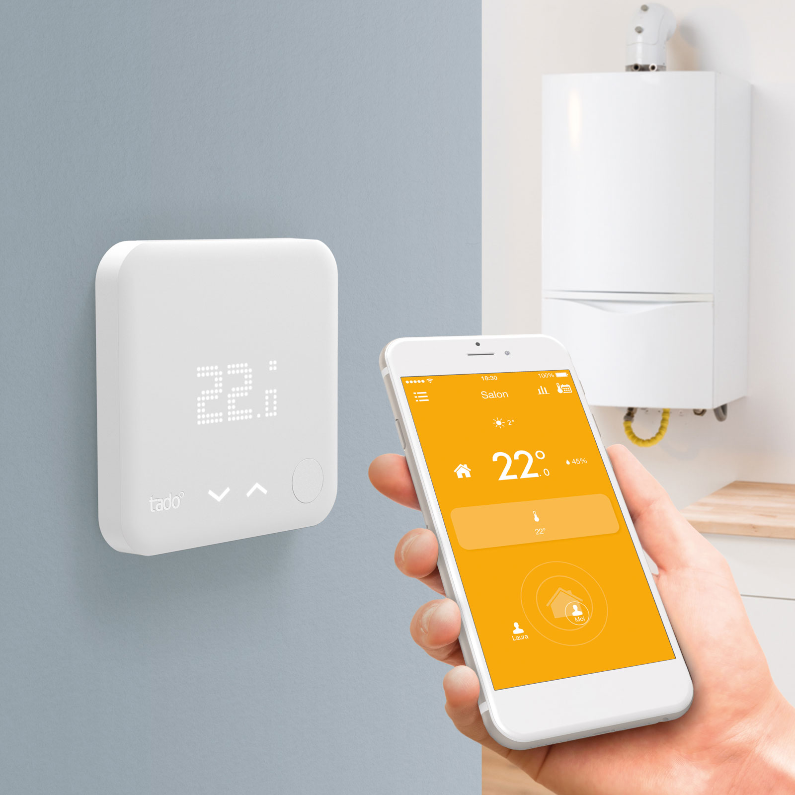 tado thermostat connect kit de d marrage v2 accessoires tado sur. Black Bedroom Furniture Sets. Home Design Ideas
