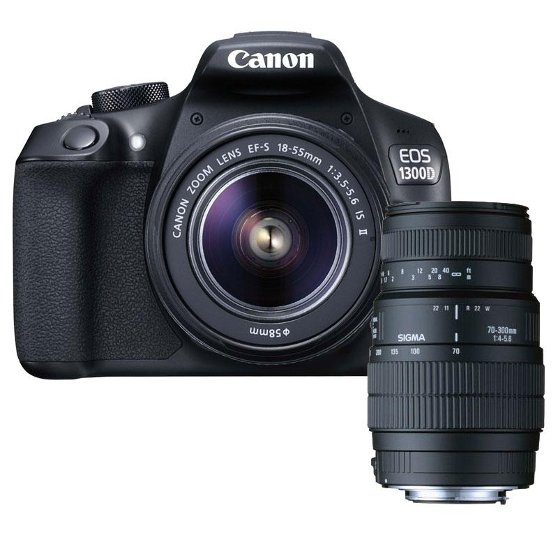824b4eef4a40fb Canon EOS 1300D + EF-S 18-55 mm IS II + SIGMA 70-300mm f 4-5.6 DG Macro (CANON  EOS 1300D + 18-55 IS STM + SIGMA 70-300MM F) - Achat Appareil photo  numérique ...